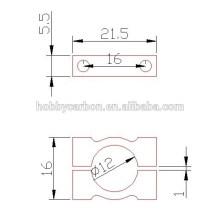 Großhandel CNC Custom Bearbeitung Aluminium Klemmen 20mm 22mm 25mm 30mm Rohr Clips