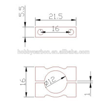 Wholesale CNC Custom machining aluminum clamps 20mm 22mm 25mm 30mm tube clips