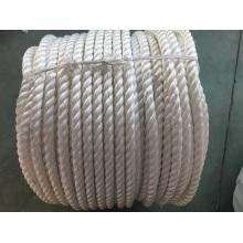 La fibra química 3-Strape rope el polietileno de la cuerda del amarre, poliéster mezclado, cuerda de nylon
