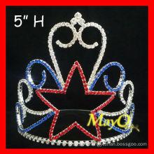 Wholesale Crystal Star Pageant Crown tiara, star boys crowns, wholesale kids crowns