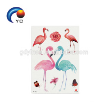 2018 Girls Flamingos Printing Temporary Tattoo Sticker Body Art