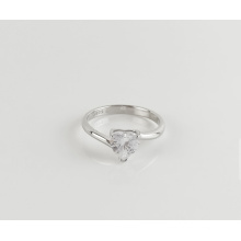 The latest design of 925 sterling silver diamond ring heart and arrow cut diamond zircon ring
