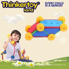 Nouveau jouet à crémaillère design en formes géométriques