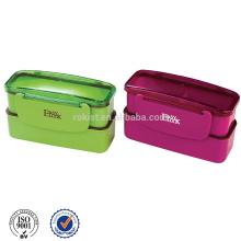 Heißer Verkauf beliebte China Kunststoff Bento Box double-Layer für Kind