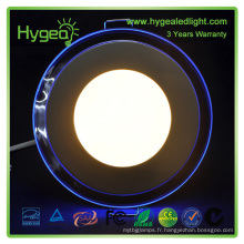 Prix d'usine bluetooth 12w bleu / blanc couleur led panneau lumière 18w Dimmable Changement de couleur lampe panneau LED