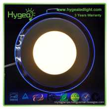 6w 12w 18w 24w blue and white color two color change led panel light with CE SAA approval