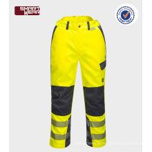 Calças de trabalho novos produtos 2017 barato calças de segurança usado oi-vis calças de trabalho de fita reflexiva