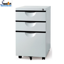 Good quality america market hot salee 3 drawer metal mobile cabinet