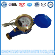 Material de latão Tipo seco Medidores de fluxo de água de pulso (DN15-DN25)