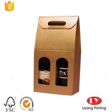 custom made cheap wine packaging paper box