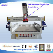 Alta velocidade de madeira máquina router cnc com eixo de resfriamento de água