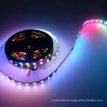60LEDs / m 5050 conduziu o clube de tira do dmx que ilumina 24 volts conduziu a luz da corda