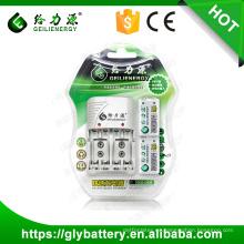 Cargador de batería Geilienergy C802 NIMH 9V con 2 ranuras