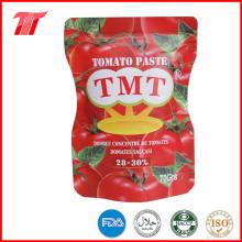 Pasta de tomate enlatada saludable orgánica con la marca Yoli