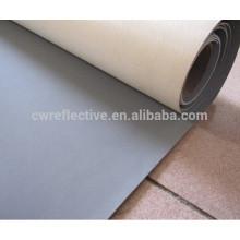 tecido de couro reflexivo de alta luz de prata do PVC para caracóis