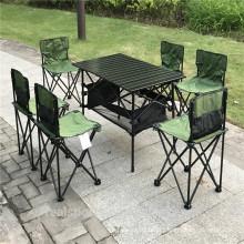 Mobília do pátio Set 7-Piece Outdoor Camping Folding Table Chair Set