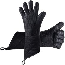 Heat Resistant Gloves BBQ Kitchen Silicone Oven Mitts