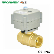 Mini vanne à bille en laiton motorisée 3/4 '' (T20-B2-B)