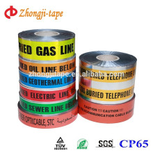 Customized printing underground detectable cable warning tape