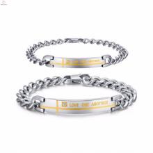 les bijoux de bracelets d'acier inoxydable écrivent le nom pour des femmes