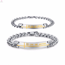 stainless steel bracelets jewelry write name for women