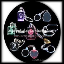 keychain de cristal em branco LED cristal keyring presentes