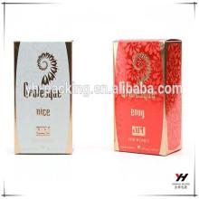 2016 горячий продажа упаковки парфюмерии напечатанный изготовленный на заказ картонная коробка