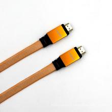 New Design Free Copper Aluminum Hood 1.4V Flat HDMI Cable