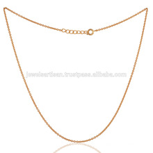 Compre The Best Fashion Gold Plated 18 Inch Chain em Brass Leverlock