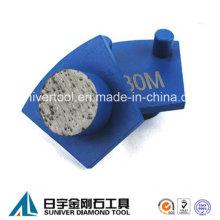Runde Segment Diamant Metall-Boden-Pads für Werkmaster Maschine