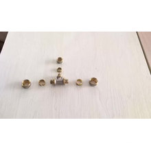Nickel-plated brass reducing tee reducing tee compression fitting compression tube fitting