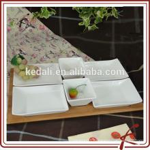 Квадратный белый фарфор закуска сервировочный поднос