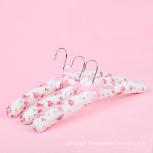 High quality colourful fabric satin padded wedding hangers hangers for full dress