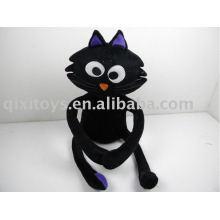 felpa de peluche gato negro de halloween