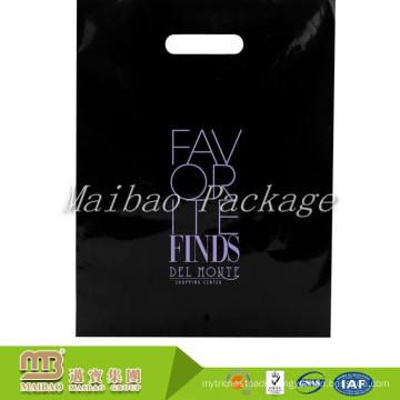 Shopping Industrial Heavy Duty Customized Colored Logo Print Wholesale Diecut Handle Ldpe Black Plastic Bags