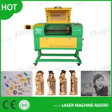 Mini máquina de gravação a laser para acrílico, plástico, madeira compensada, tecido, papel, granito-Rj5030
