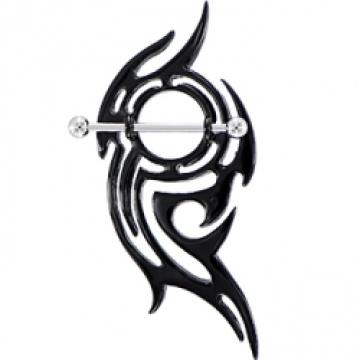 Schwarzen tobenden Stammes-Stillhütchen