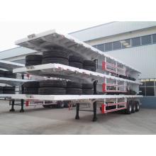 Three Axles 30ton Container Trailer Flatbed Semi Trailer