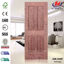 JHK-004P Spécialement Design Vente en gros de MDF de haute qualité Bois naturel Bubingga Popular Door Sheet