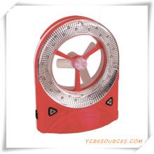 Ventilador recargable con luz LED para promoción