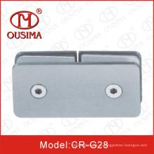 Aço inoxidável180 graus de chuveiro Clipe de fixação de vidro do quarto (CR-G28)