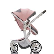 Frame de liga de alumínio carrinho de bebê barato 3 em 1 carrinho dobrável de luxo para paisagem alta