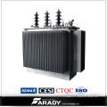 Type d'huile Transformateur de puissance de la phase 11kv 33kv 1000kVA et transformateur de distribution