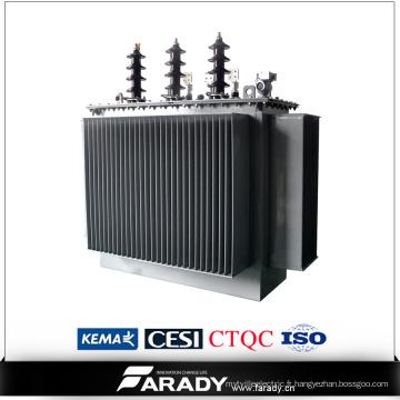Transformateur électrique immergé dans l'huile triphasé de 15kv