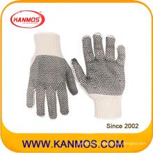 Промышленная безопасность Полиэстер Хлопок ПВХ Пунктирные трикотажные рабочие перчатки (61004TC)