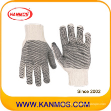 Industrial Safety Polyester Cotton PVC Dotted Knitted Work Gloves (61004TC)