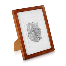 beautiful custom a4 solid wood walnut picture photo frame for home decor