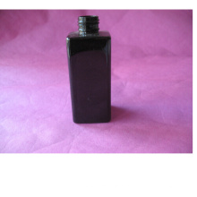 6oz Black Square Pet Bottle sin tapa
