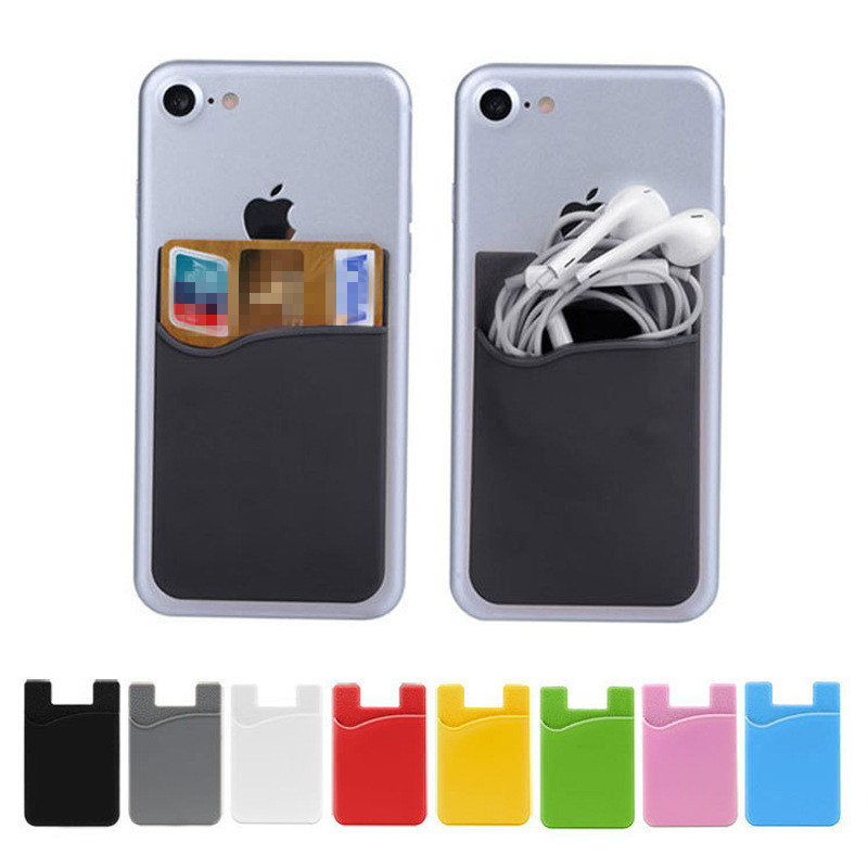 silicone mobile phone card holder