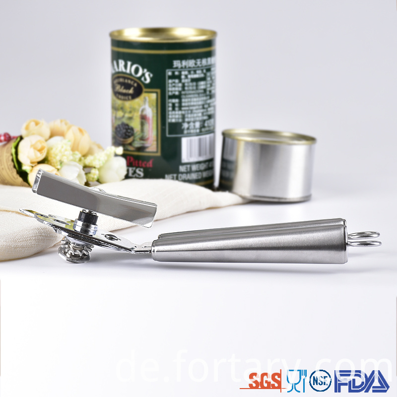 Stainless Steel Handle Tin Opener manual